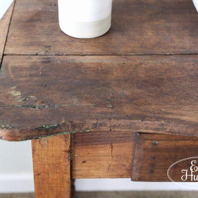 Primitive Scrub Top Table