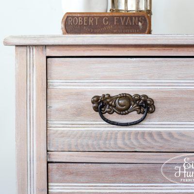 Winter White Glazed Oak Dresser