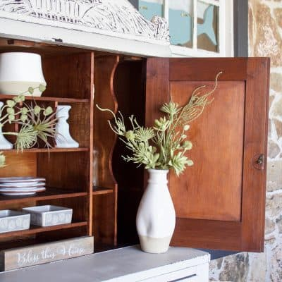Grain Sack Cubby Hutch