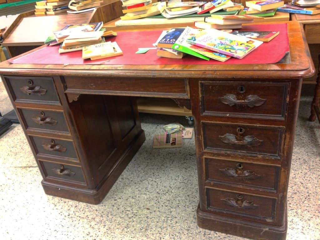 Leather Desk Mat//Pad Finition Antique
