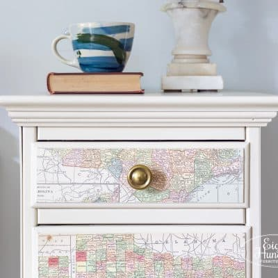 Linen Map Nightstands