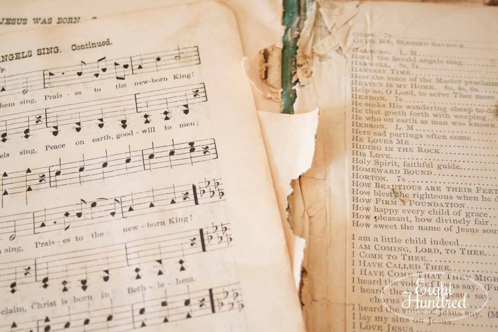 Antique Sheet Music from a Hymnal