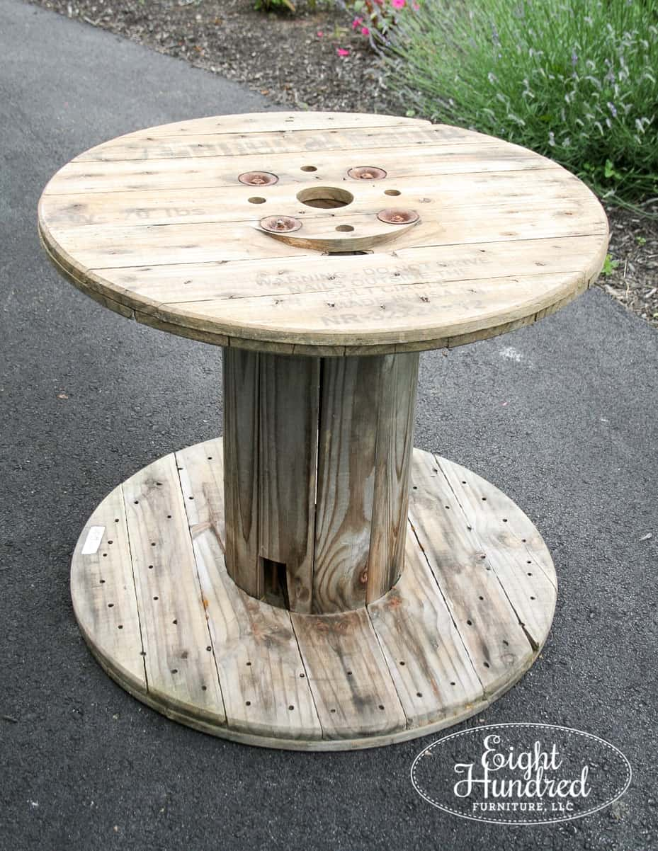 Marvelous Industrial Spool Table Eight Hundred Furniture Best Image Libraries Sapebelowcountryjoecom