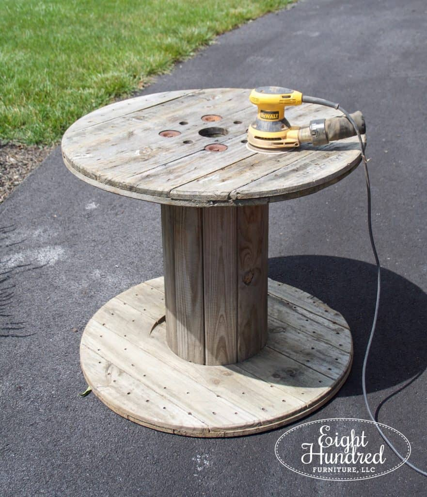 Industrial Spool Table Eight Hundred Furniture