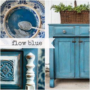 Flow blue collage