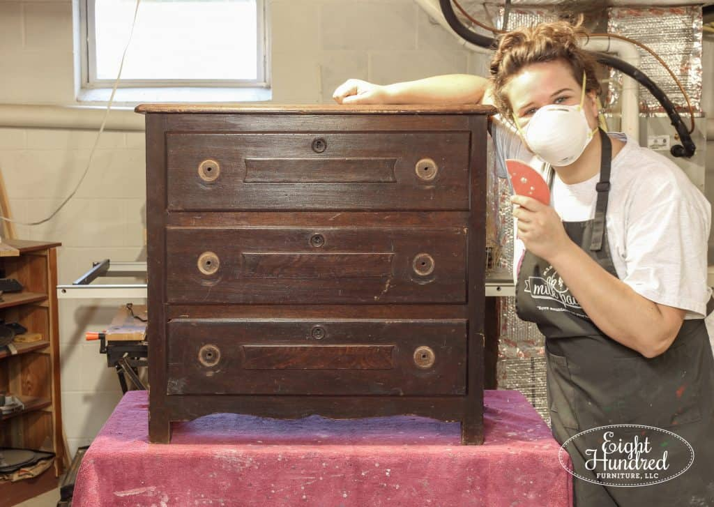 Jenn Baker, Eight Hundred Furniture, Prep Sanding, Washstand