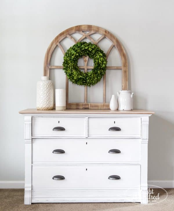 white dresser, general finishes, farmhouse, oak dresser, antique dresser, white paint, whitewash