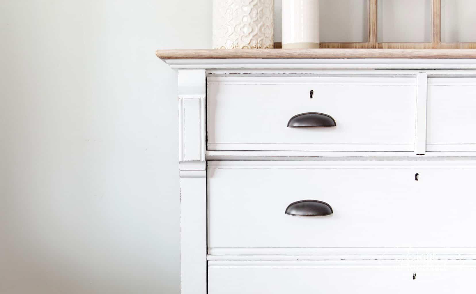 white dresser, general finishes, farmhouse, oak dresser, antique dresser, white paint