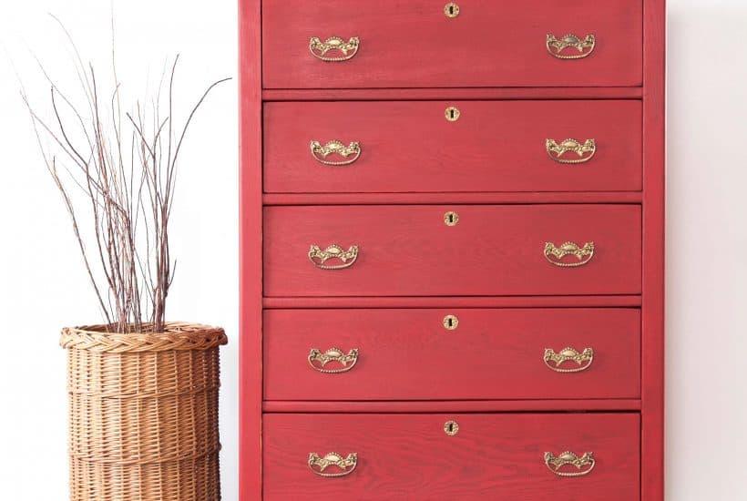 tricycle, miss mustard seeds milk paint, milk paint, red paint, antiquing wax, antiquing, oak dresser