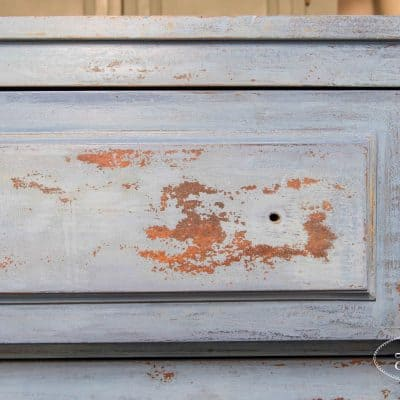 Empire dresser, Flow Blue, Artissimo, Chippy, Layered Paint, Miss Mustard Seed's Milk Paint