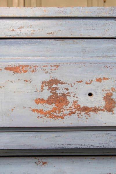 Empire dresser, Flow Blue, Artissimo, Chippy, Layered Paint, Miss Mustard Seed's Milk Paint
