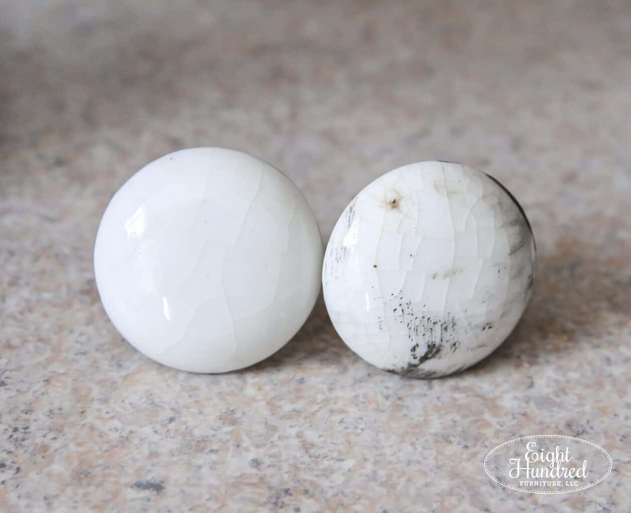 cleaning porcelain knobs