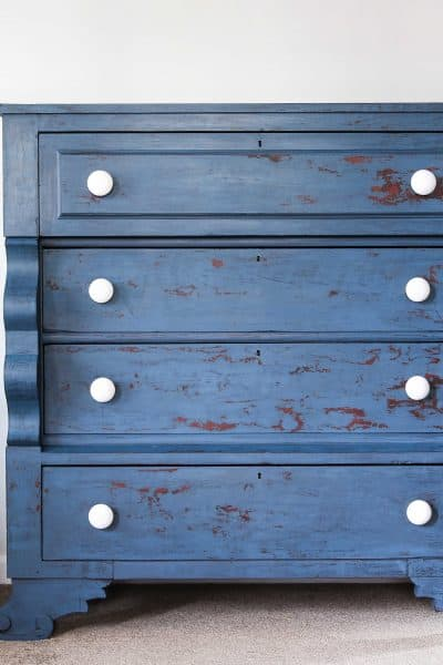 empire dresser, miss mustard seeds milk paint, flow blue, artissimo, antiquing wax, hemp oil