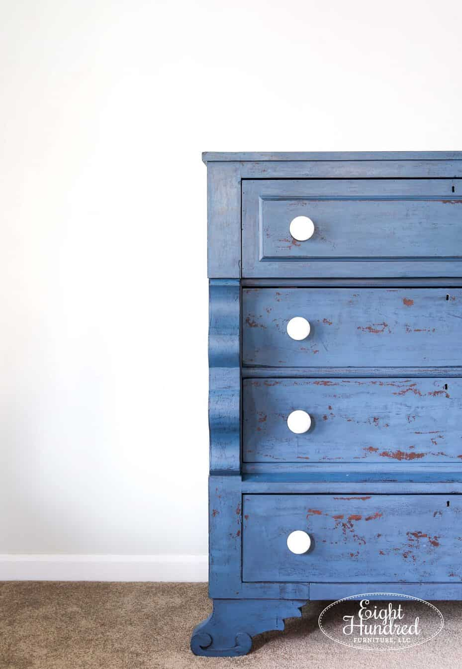 empire dresser, miss mustard seeds milk paint, flow blue, artissimo, antiquing wax, hemp oil
