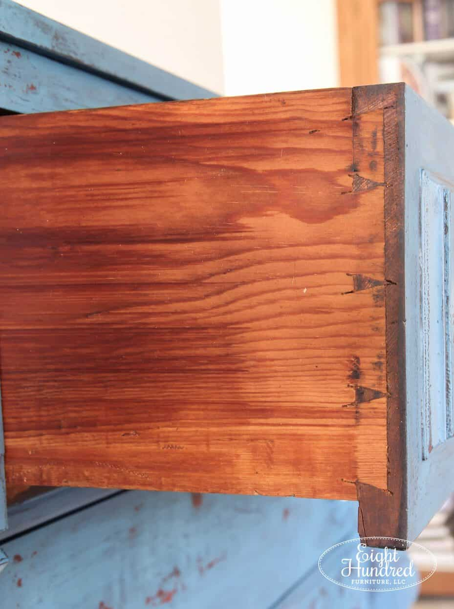 Hand cut dovetails, empire dresser, antique dresser