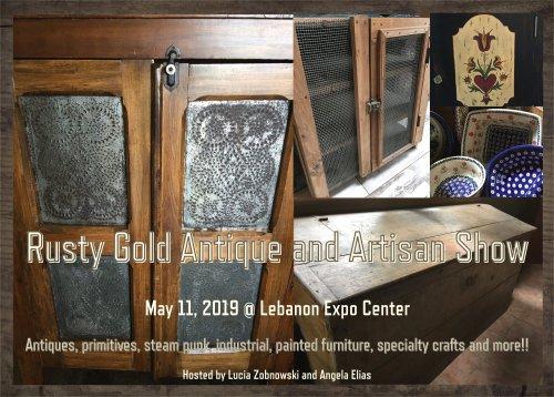 Rusty Gold, Antiques, Artisans, Antique Market, Lebanon, Lebanon Expo Center