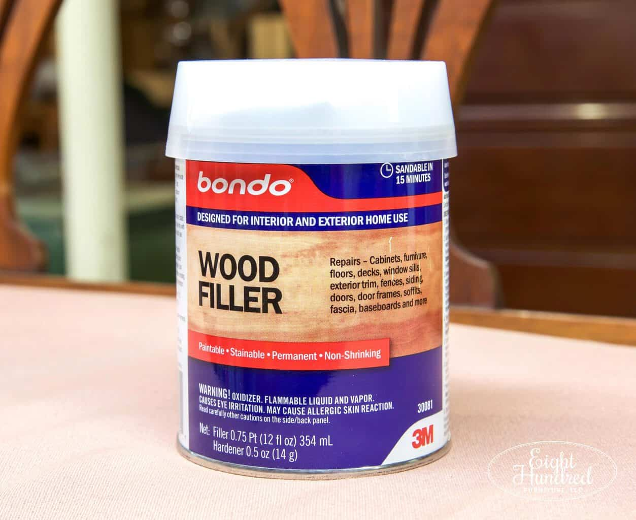 bondo wood filler, 3m, wood filler
