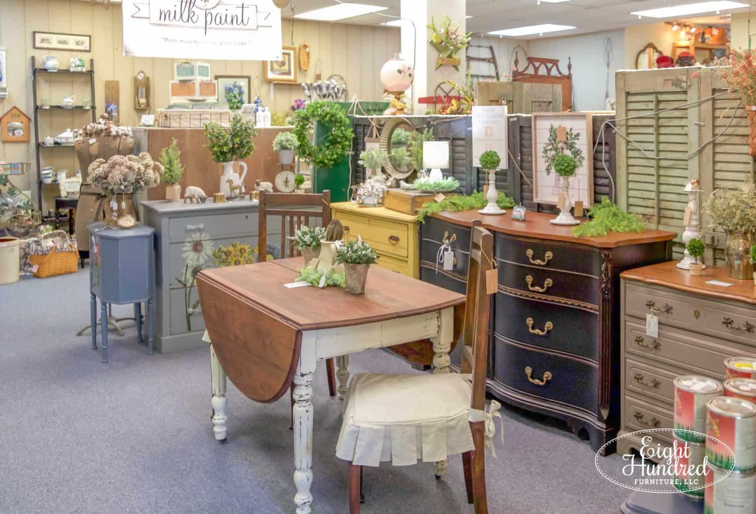 morgantown market, morgantown pa, antique co-op, antique shop, eight hundred furniture