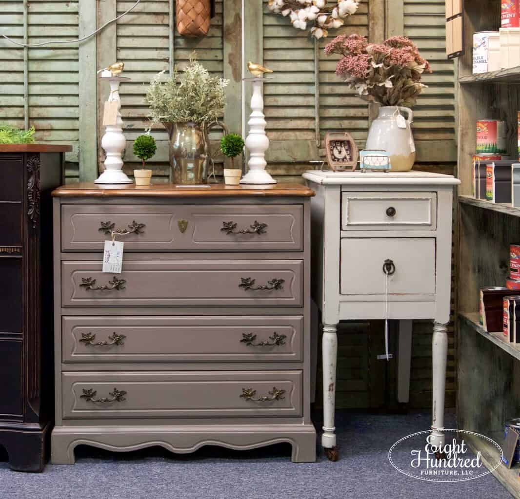 french provincial, nightstand, end table, white furniture, general finishes, miss mustard seeds milk paint, morgantown market, morgantown pa, antique co-op, antique shop, eight hundred furniture