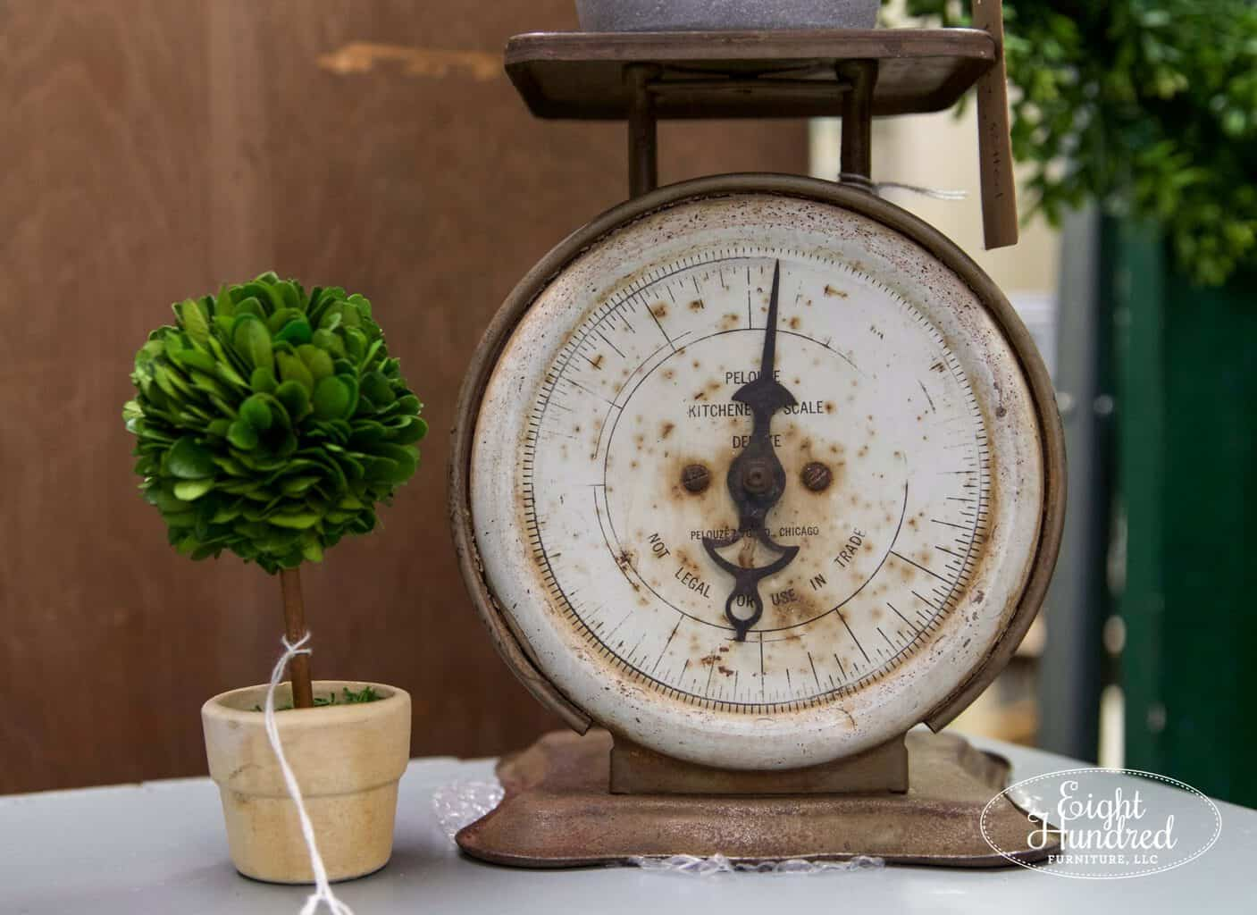 antique scale, boxwood topiary, morgantown market, morgantown pa, antique co-op, antique shop, eight hundred furniture