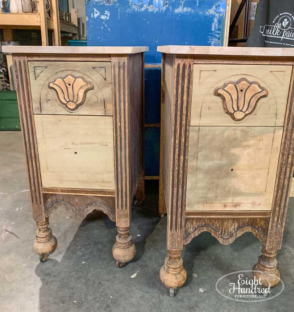 Nightstands, Eight Hundred Furniture, antique nightstands, salvaged vanity