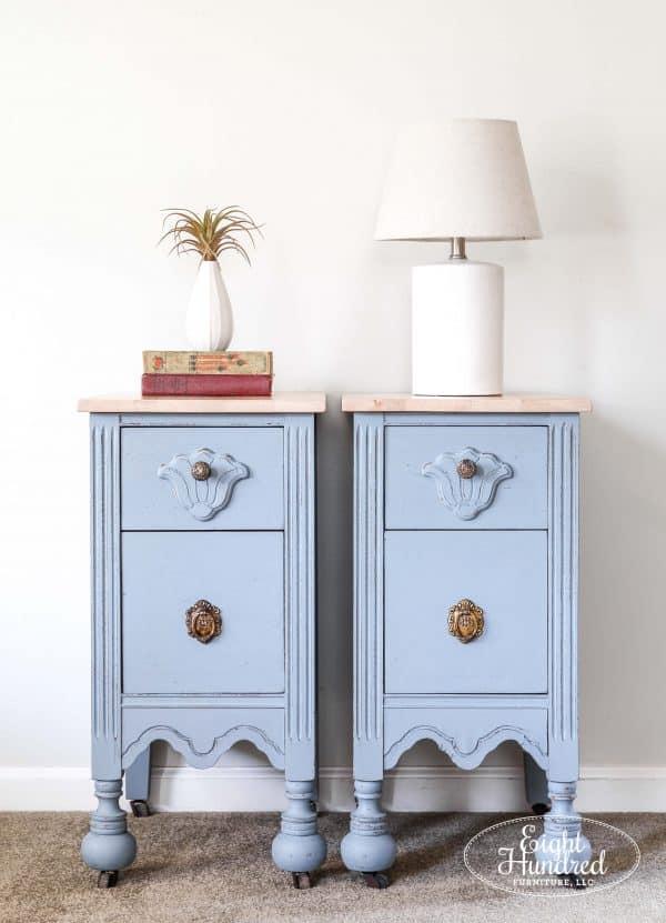Bergere, Miss Mustard Seed's Milk Paint, Nightstand, Hemp Oil, Eight Hundred Furniture, antique nightstands