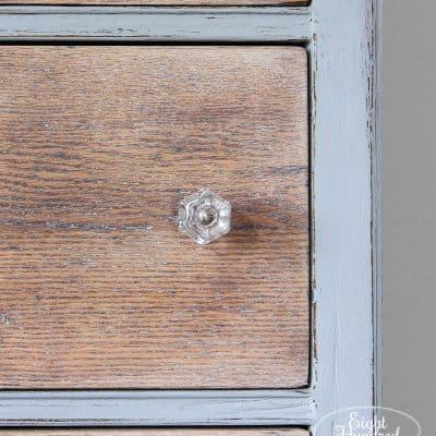 White wax by Miss Mustard Seed on oak dresser drawers