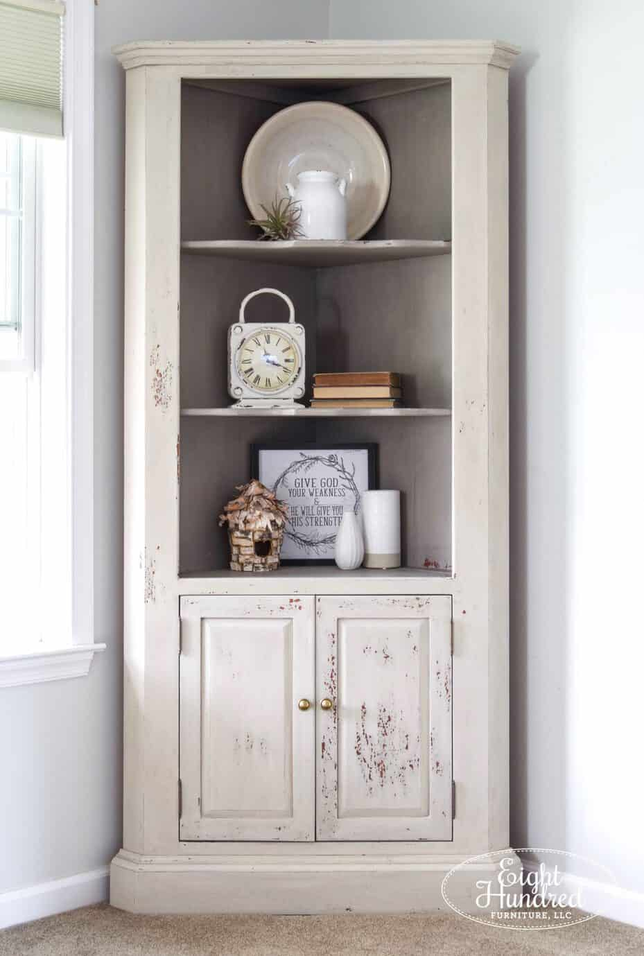 corner cupboard, cherry wood, miss mustard seed's milk paint, schloss, marzipan