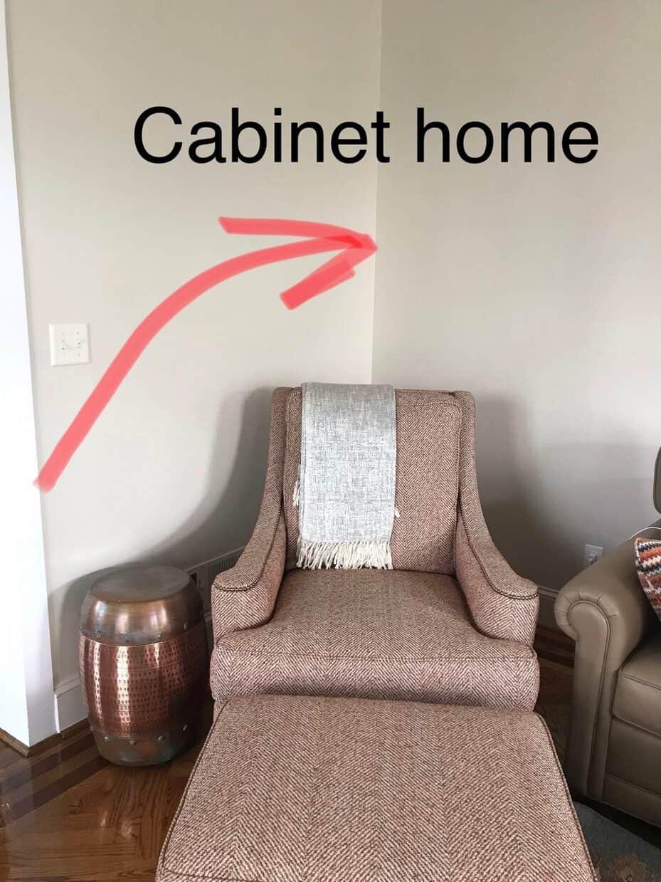 cherry corner cabinet home