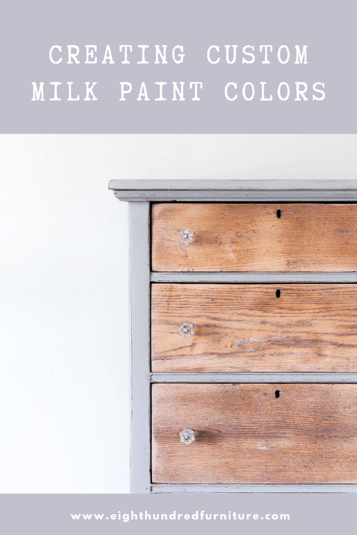 Social media image of creating custom colors with milk paint