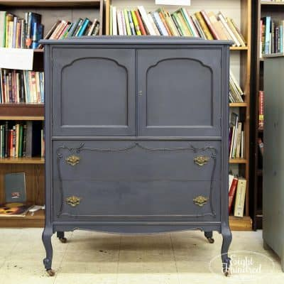 Coastal Blue Milk Painted Gentleman's Chest, General Finishes, Habitat for Humanity ReStore Caln, Eight Hundred Furniture