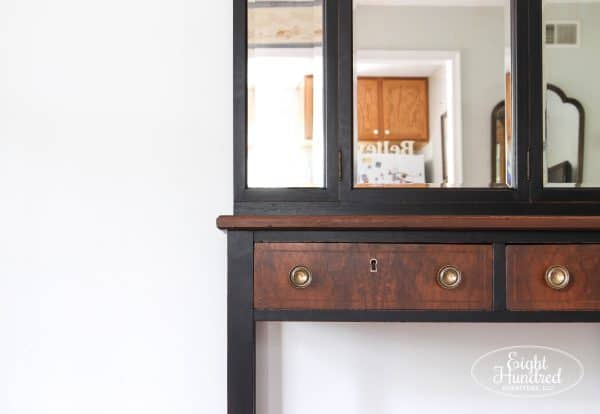 DLawless Hardware, Antique Walnut Gel Stain, General Finishes, Lamp Black Milk Paint, Eight Hundred Furniture