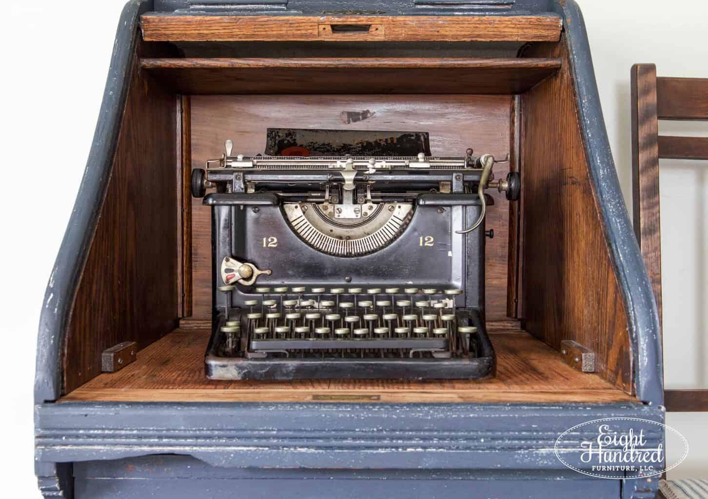 Antique Typewriter, Hemp Oil, Miss Mustard Seed's Milk Paint, Eight Hundred Furniture, Remington Typewriter, Artissimo, Milk Paint