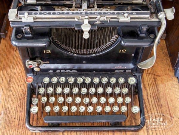 Antique Typewriter, Hemp Oil, Miss Mustard Seed's Milk Paint, Eight Hundred Furniture, Remington Typewriter