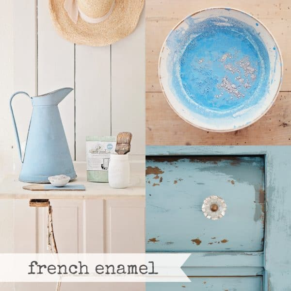 French Enamel Collage Miss Mustard Seed's Milk Paint