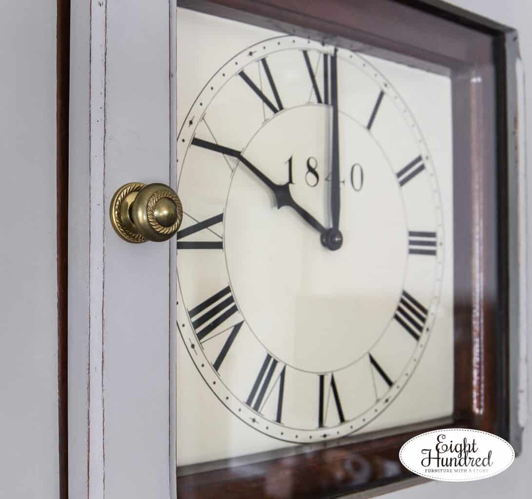 Grandmother clock face in Schloss by Miss Mustard Seed's Milk Paint
