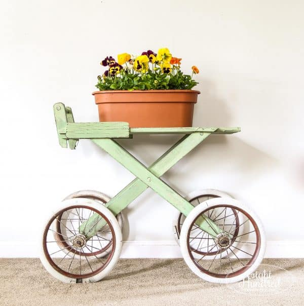 Cart painted in Lucketts Green by Miss Mustard Seed's Milk Paint sealed with Hemp Oil