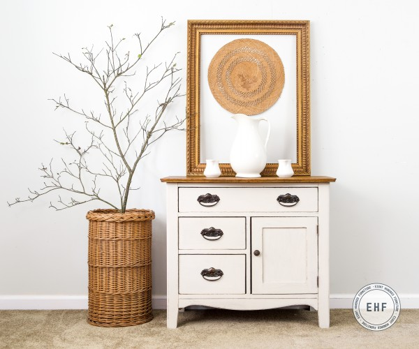 Antique Washstand in Marzipan by Miss Mustard Seed's Milk Paint