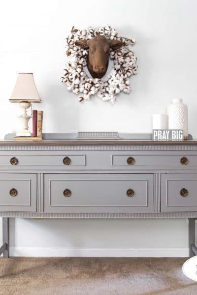 Buffet in Perfect Gray Milk Paint by General Finishes by Eight Hundred Furniture
