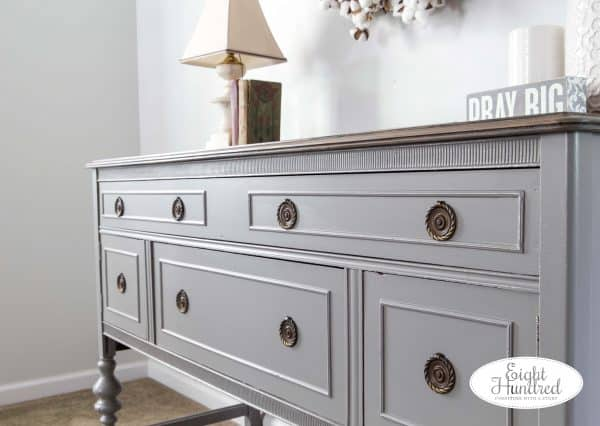 Buffet painted in Perfect Gray by General Finishes