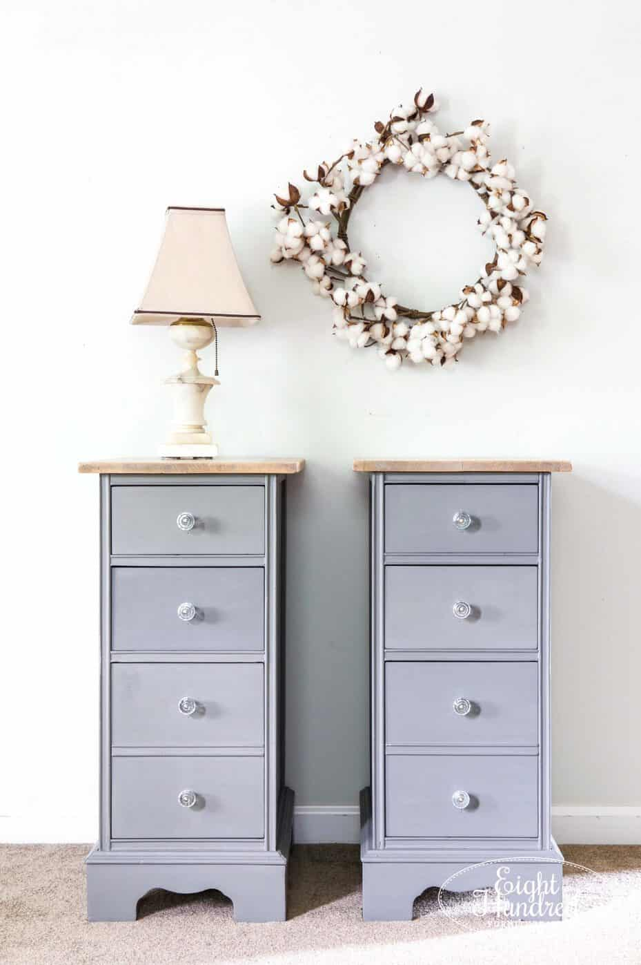 Full length view of Trophy nightstands