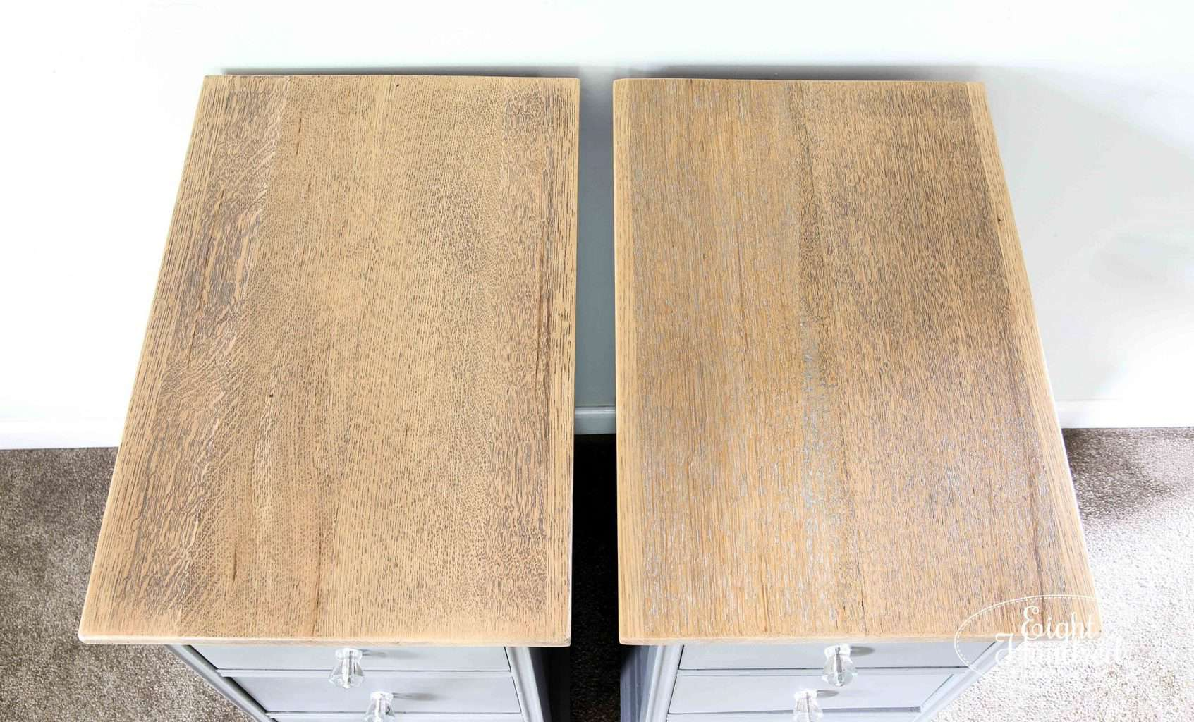 Reclaimed tops of my Trophy nightstands. These were once oak table leaves!