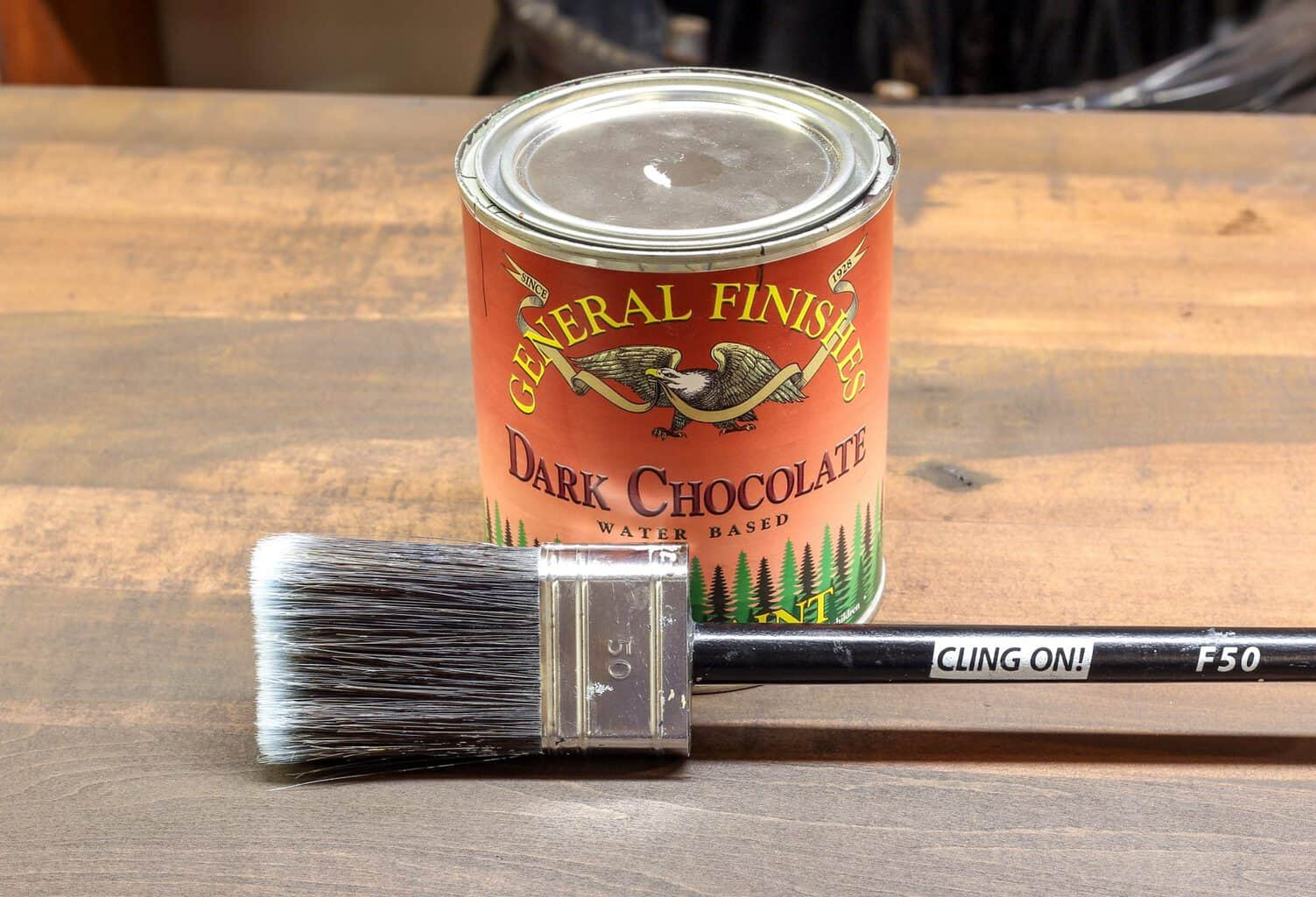 Dark Chocolate Milk Paint by General Finishes and a ClingOn! F50 brush