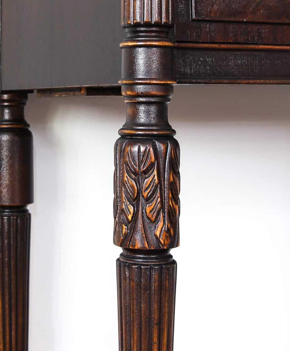 Close up shot of leg on VanSciver Hutch