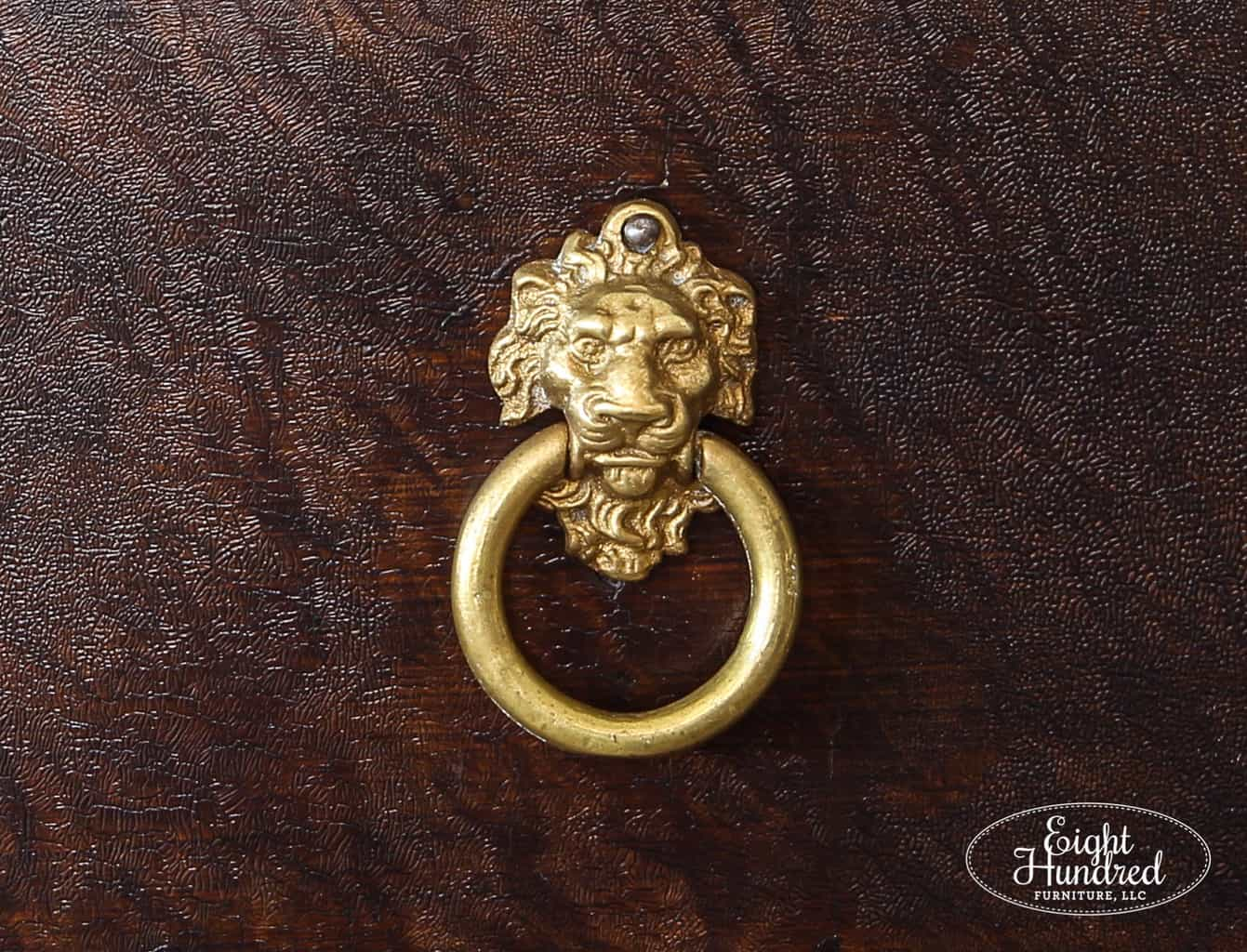 Lion Head Ring Pull on VanSciver Hutch