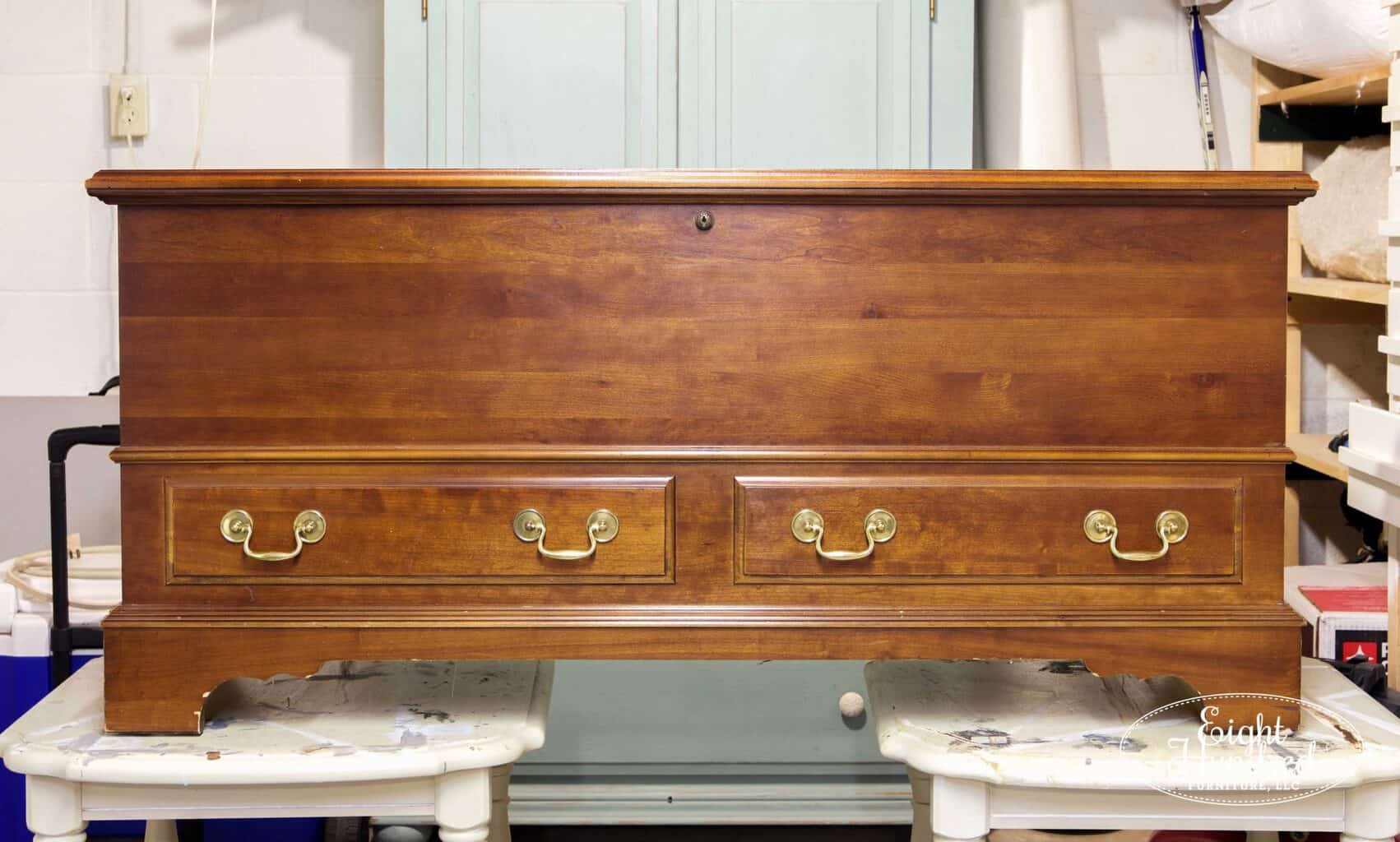 Cedar chest before photo 2