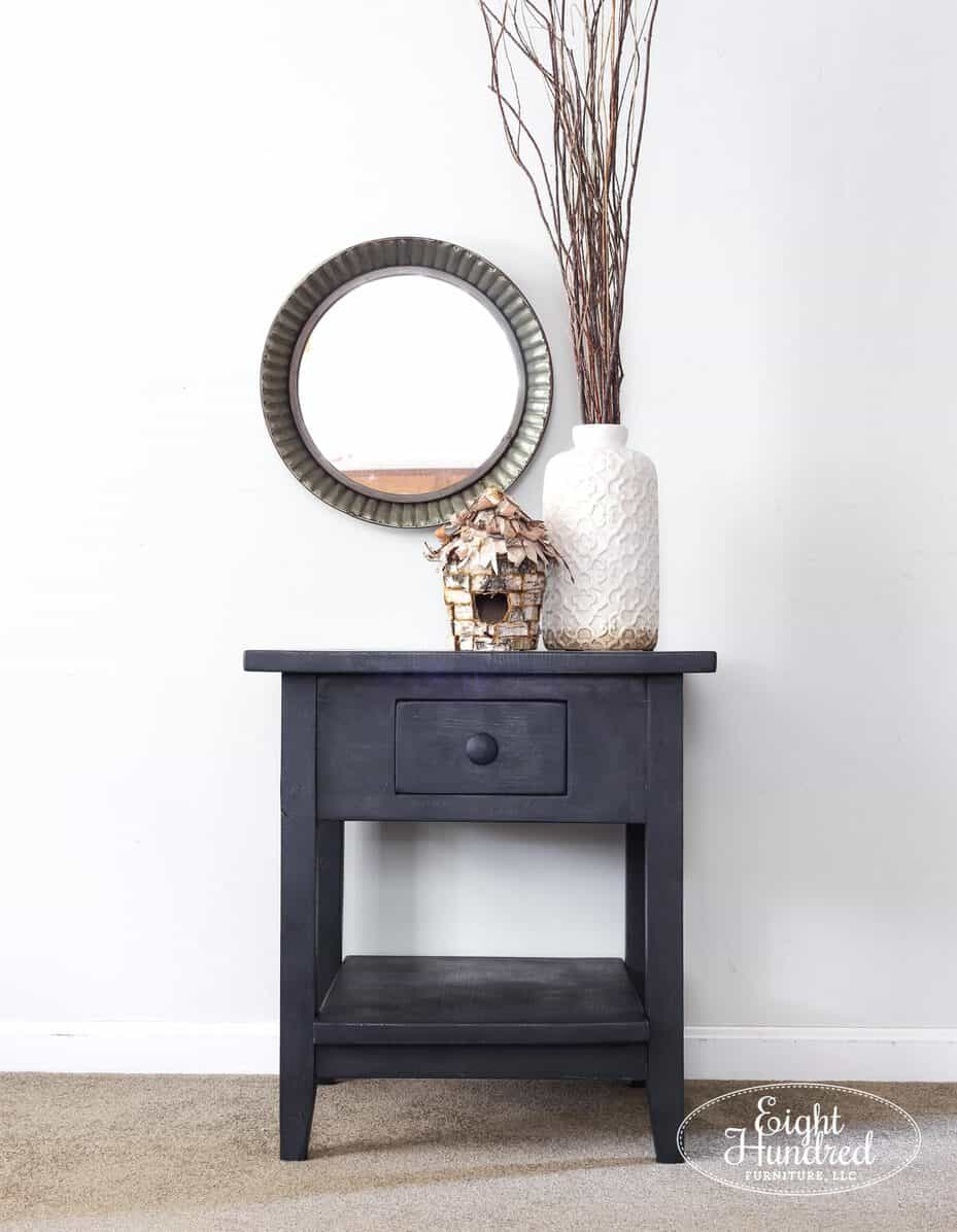 Front view of nightstand in Artissimo, Hemp Oil and Zinc Wax by Eight Hundred Furniture