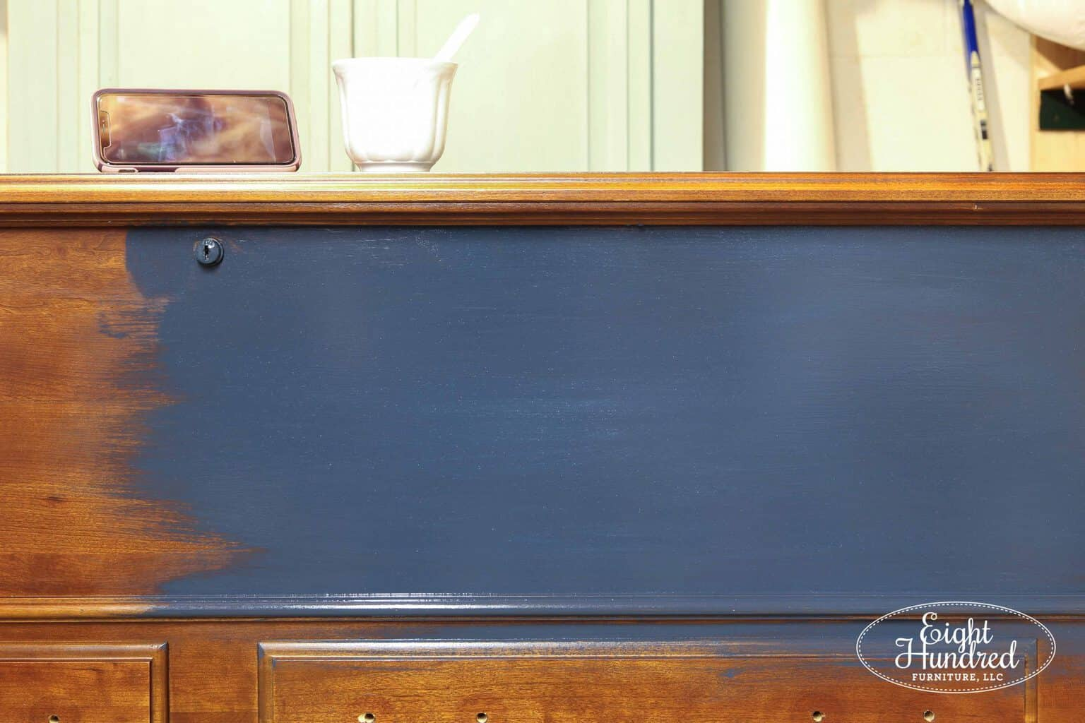 Artissimo Milk Paint by Miss Mustard Seed on a cedar chest