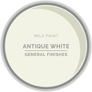 Antique White Milk Paint Color Chip