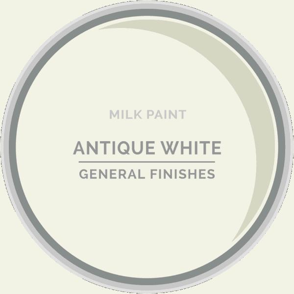 Antique White Milk Paint Color Chip